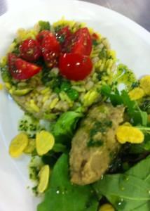 Insalata di riso giallo vegan