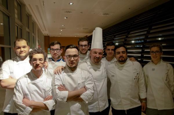 team junior chef con il Presidente Assocuochi Treviso