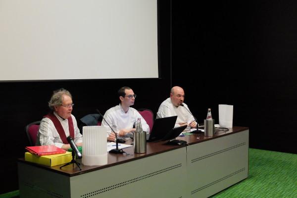 da destra Presidente Chef Alcide Candiotto, Chef Marco Pesce Segretario e Chef Giovanni Puglisi Tes
