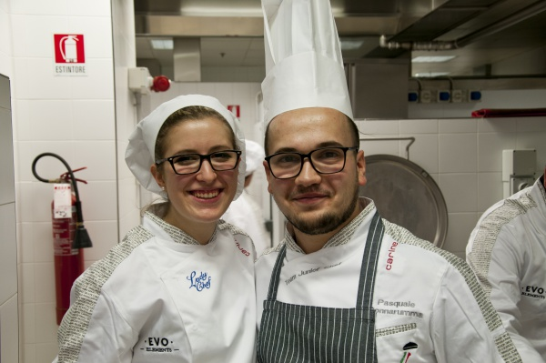 PASQUALE DONNNARUMMA E SARA POLONI TEAM JUNIOR CHEF